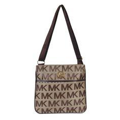 Michael Kors Jet Set Logo Large Beige Crossbody Bags Outlet