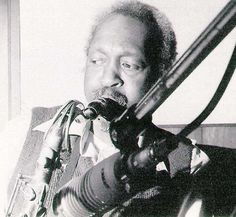 Hank Mobley, 1980.  This photo of Mobley appears in the inside jacket of Tete Montoliu's album, I Want To Talk To You, Mobley's last album appearance.