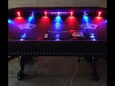 Custom Poker Tables with Focused Lights and Controller