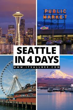 A 4 day Seattle itinerary with tips on must-see places, where to eat, best tours, getting around, where to stay on a perfect trip to Seattle in 4 days. #itsallbee #usa #cityguide #itinerary #north #america #traveltips  | Seattle Itinerary 4 days | What To See In Seattle in 4 Days | 4 day Seattle Itinerary | Places to Visit In Seattle | Things To Do In Seattle | Seattle Packinglist | Seattle Photography | Seattle Washington Things To Do