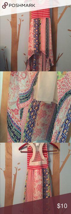 Tween Diva dress Hi Low dress in kids size 8 by Tween Diva skirt Measures 15 front 28 back Waist is 20 chest 24 good used condition tween diva Dresses Casual