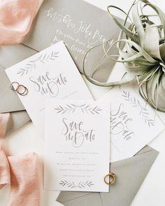 Simple grey save the dates | A Fabulous Fete