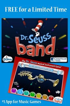 #1 music game app, Dr. Seuss Band is now FREE for a limited time - Grab it now! My kids love it - it's like Rock Band - Seuss Style.