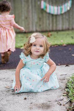 'Dalia' Mint, Pink and Gold Flower Holiday Dress, the sweetest modern dress for Christmas 2015. Your little one will love this twirly mint, pink and shimmery gold dress, available only at cuteheads.com.