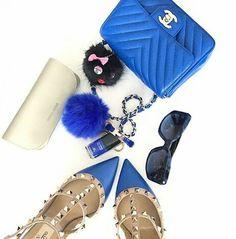 #blue #chanel #valentino
