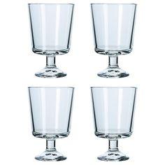 Бокал для вина, прозрачное стекло