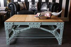 Table basse  table de café Deluxe steampunk industriel style
