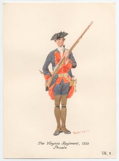 The Virginia Regiment Private 1758 by Knotel