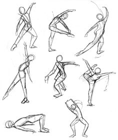 Life gesture sketches of people by Kaitlyn Fuchs