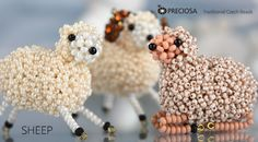 Easter's coming!  Make these cute sheet with the seed beads you get on sale this week at BBE http://preciosa-ornela.com/en/news/projects/advanced/865-sheep