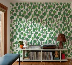 love this paper, for a small area. probably cheaper if i painted all the little trees...