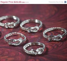 SALE Knot rings by TheJewelryGirlsPlace, $20.76