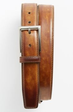 Free shipping and returns on Magnanni 'Catalux' Belt at Nordstrom.com. A sharp belt crafted from hand-burnished leather is finished with silvertone hardware.