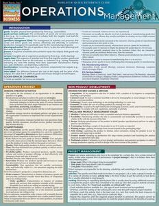 Operations Management Laminated Reference Guide This study guide contains fundamental marketing definitions and principles which are specifically designed to aid business students. Item is grea Business Management, Business Planning, Business Tips, Online Business, Property Management, Business Education, Business Sayings, Management Quotes, Management Logo