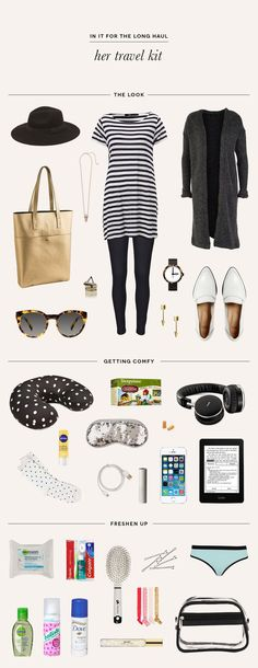 What to pack for your travels // Get more packing tips at Read our packing tips for a summer holiday in Europe at http://www.holidaystoeurope.com.au/home/resources/european-travel-blog-news-travel-tips/853-packing-list-for-a-summer-holiday-in-europe