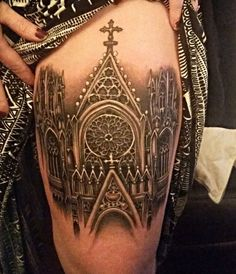 Gothic-Cathedral-Tattoo.jpg (750×872)