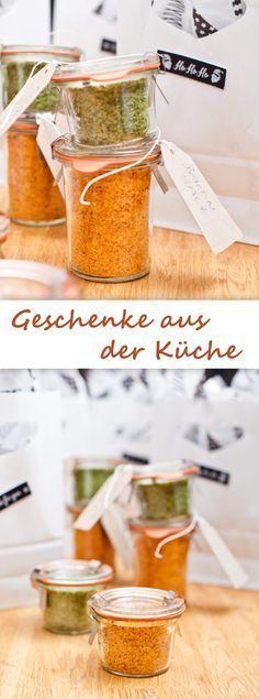 DIY Weihnachtsgeschenk aromatisiertes Salzrezept Food, Gift and - selbstgemachte mitbringsel aus der küche
