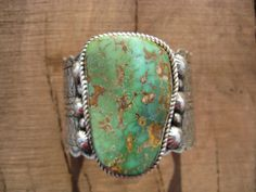 Vintage Silver Navajo Cuff Royston Sterling Heavily Stamped 173g, Signed GS #Cuff
