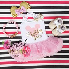 a08cd437b4ee Pink and Gold Birthday Girl Tutu Dress - 2pc 1st 2nd 3rd 4th Birthday Pink  and