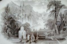 "Beautiful John Wedgwood 15"" Peruvian Ironstone Mulberry Octagon Platter 1849 Wedgwood, Platter, Flow, Painting, Beautiful, Painting Art, Paintings, Painted Canvas, Drawings"