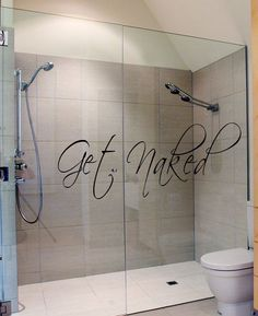Like the idea of having a patterned sticker going across the shower screen instead of expensive privacy glass.
