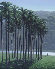 Tomas sanchez, Autorretrato del Adorador de palmas - 1992 - Acrilico sobre lienzo - 395 x 315 cm