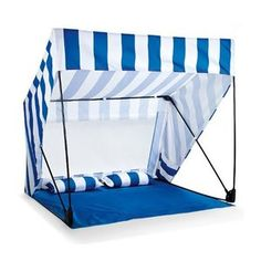 The Island Shade Tent and Beach Shack in Blue and White  sc 1 st  Pinterest : umbrella tent for beach - memphite.com