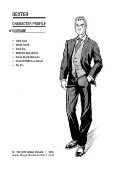 Here is another piece of concept art of Dexter, the Gentleman's right hand. This time we show off his costume a bit more. Drawn and inked by Johan Prinsloo.