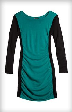 Holiday is on! I just found Color Block Sweater Dress  on the #EXPRESSLIFE Gift Guide: http://express.com/giftguide    What a perfect holiday dress!  #expressholiday