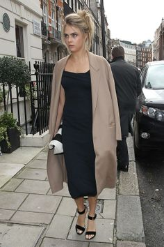 Cara Delevigne as a bridesmaid at her sister's wedding. Love the casualness.