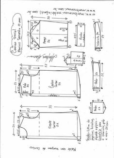 Children's shirt pattern for kids – Free patterns – Shirt Types Mens Sewing Patterns, Baby Clothes Patterns, Clothing Patterns, Mens Shirt Pattern, Pants Pattern, African Print Skirt, Pattern Drafting, Fashion Sewing, Baby Girl Fashion