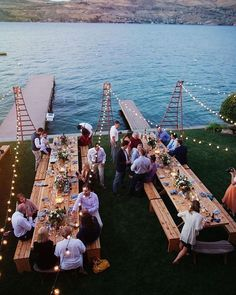 """""""Today's inspiration: wedding reception ideas! This lakeside setup is perfect to transition from a daytime celebration to an evening of dancing under the stars!  Photo: Ryan Flynn Photography ~• • • • • • • • #weddingphotography  #weddingphotographer #weddingdecor #weddingreception #weddings #brides #bridal #decor #eventplanner #vancouverweddings #vancouver #vancity #yvr #surrey #desibride #indianbride #vancouverevents #weddingplanner #vancouverevents #weddingfun #party #weddinggoals…"""