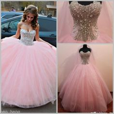 New Beaded Formal Prom Quinceanera Party Ball Gown Wedding Dresses custom