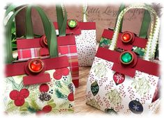 Handtasche Handbag Weihnachtsfreuden Under the mistletoe Stampin' Up! Diy Paper, Paper Crafts, Under The Mistletoe, I Love Makeup, Heartfelt Creations, Stamping Up, Origami, Craft Supplies, Gift Wrapping