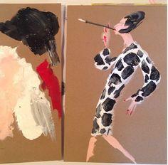 Diana Vreeland by Donald Drawbertson Donald Robertson, Face Drawings, Harper's Bazaar, Msv, Vogue, Diana Vreeland, Illustration Art, Illustrations, Art Daily