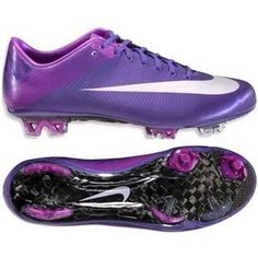 Nike Mercurial Vapor Superfly III FG Firm Ground Soccer Cleats Purple Silver