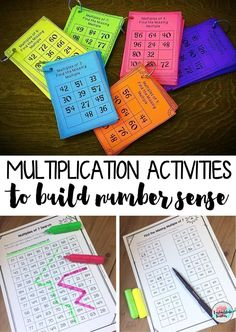 """Mastering multiplication facts got you scratching your head? Help students master multiplication by developing their """"count-by"""" skills and number sense for multiples of numbers. Those 6, 7, 8, and 9 multiplication facts tables can be really tough to memorize! In these Multiplication Intervention Activities for Multiplying by 2's-12's, """"count-by"""" activities help 3rd, 4th, and 5th graders master mult facts for 2's-12's--fun! """"Find Missing Multiple,"""" """"Which Does Not Belong?,"""" """"Multiples…"""