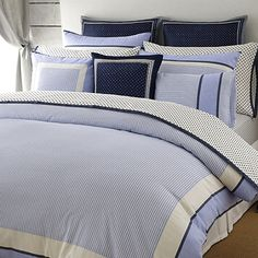 Tommy Hilfiger comforter set. What every well-dressed bed deserves—the shirting stripe we're famous for recast in softly woven cotton