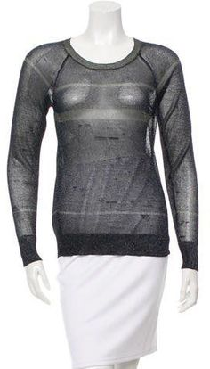 Etoile Isabel Marant Metallic Knit Top