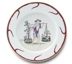 Alberto Pinto Chinoiserie Buffet Plate #6