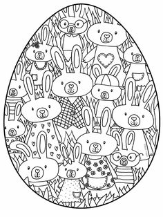 Discover recipes, home ideas, style inspiration and other ideas to try. Easter Egg Coloring Pages, Cute Coloring Pages, Coloring For Kids, Coloring Books, Bunny Crafts, Easter Crafts, Diy For Kids, Crafts For Kids, Easter Puzzles