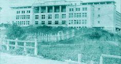 Curitiba Naqueles Idos: Colégio Estadual ainda em construção. Data: 05/03/1948. Foto: autor desconhecido. Acervo: Cid Destefani. Gazeta do Povo, Coluna Nostalgia (17/03/1996)