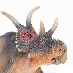 This Diabloceratops toy is the perfect addition to your aspiring paleontologist's dinosaur collection. Prehistoric Creatures, Tyrannosaurus Rex, Dinosaurs, Horns, Hand Painted, Authenticity, Utah, Skull, Cover
