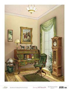 Watercolor Architecture, Room Paint, Illustrations, Watercolor Illustration, House Painting, Cute Art, Vintage Art, Folk Art, Sweet Home
