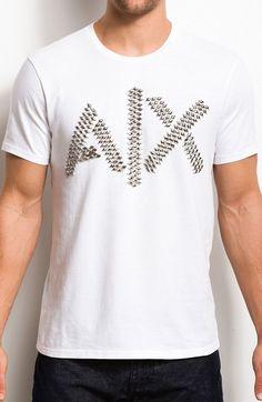 Studded Logo Tee - Tee Shirts - Mens - Armani Exchange