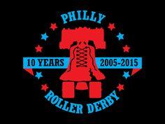 Philly Roller Derby 10 Year Logo
