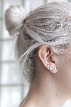phoebe #white #earrings #ears #fashion #hair #hairstyle #iwant #white
