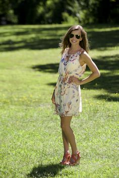 Floral Surplice Dress
