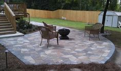 Patio off of deck ~