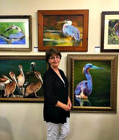 Artist Penny Lewis in the Before and After Gallery, Fairhope Alabama.